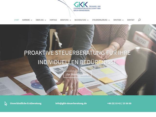 Webseite der GKK Steuerberatung der Online Marketing Agentur webamt.de