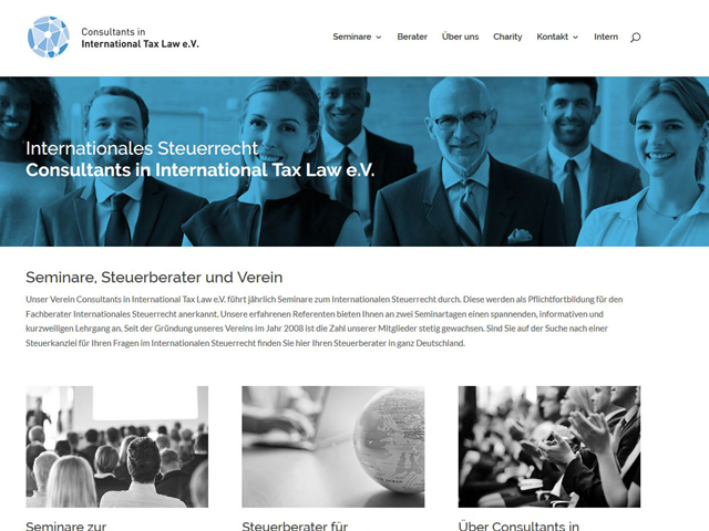 Webseite des Vereins Advisors International Tax Law der Online Marketing Agentur webamt.de