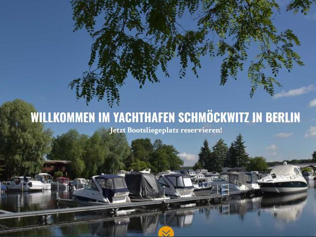 Webseite des Yachthafen Schmöckwitz der Online Marketing Agentur webamt.de