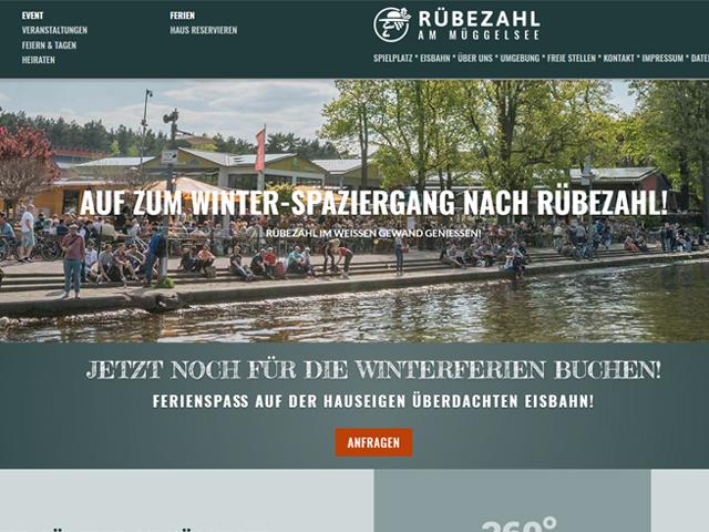 Webseite für den Biergarten Rübezahl am Müggelsee der Online Marketing Agentur webamt.de