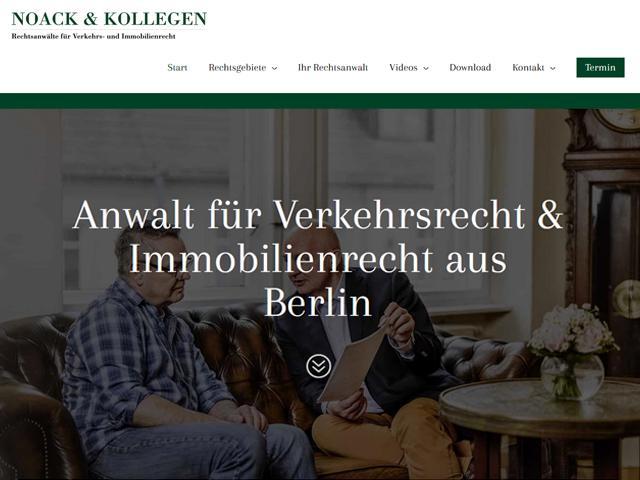 Webpage der Rechtsanwälte NOACK & KOLLEGEN der Agentur webamt.de