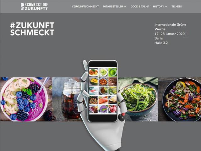 Webpage von #ZukunftSchmeckt der Agentur webamt.de