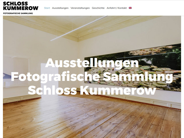 Webpage des Schlosses Kummerow der Agentur webamt.de