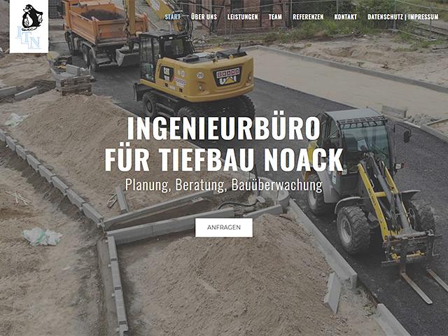 Webseite des Ingenieurbüros für Tiefbau Noack von der Online Marketing Agentur webamt.de
