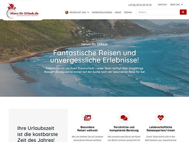 Webseite nimm-dir-urlaub.de  der Online Marketing Agentur webamt.de