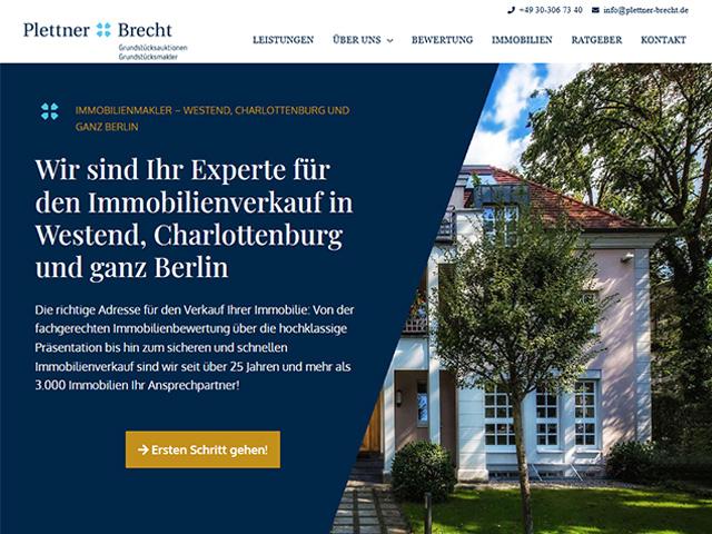 Webseite von Plettner&Brecht von der Online Marketing Agentur webamt.de